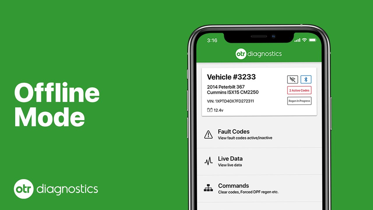 Offline Mode | Using OTR Diagnostics app with no internet connection | OTR Diagnostics