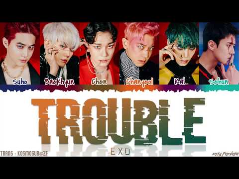 EXO (엑소) - 'TROUBLE' Lyrics [Color Coded_Han_Rom_Eng]