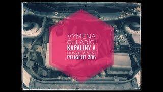 Peugeot 206,1.9D - výměna chladící kapaliny, odvzdušní chladiče- [makej s náma]