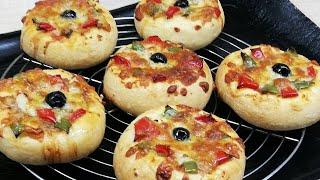 PIZZAS BRIOCHÉES  A L' ITALIENNE TRÈS FACILE (CUISINE RAPIDE)