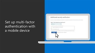 Set up multi-factor authentication with a mobile device in Microsoft 365 Business