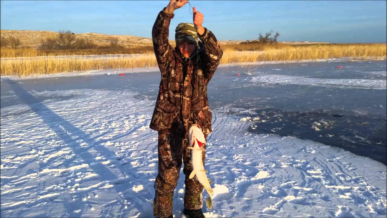 2015 ice fishing pike at refuge lakes nebraska fish and for Ice fishing nebraska