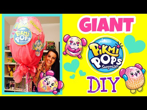 WORLDS LARGEST PIKMI POPS DIY | GIANT LOLLIPOP LOLLYPOP SURPRISE POP Kid in Candy Store Carnival