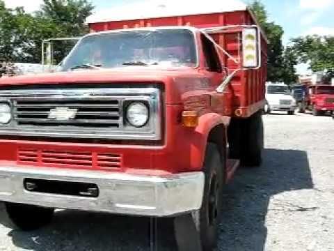 1977 Chevrolet C65 custom deluxe grain truck farm dump tarp v8 gas 366 4+2 speed 260-238-5000 ...