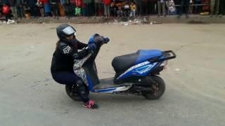 Nepali Girl stunt Riders Unified by Suzana Shrestha 2016.