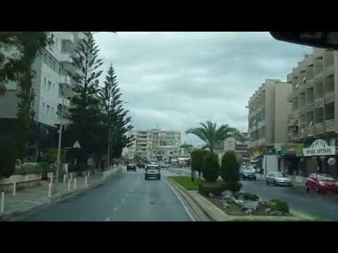 Limassol, Cyprus - Entering the city from the bus