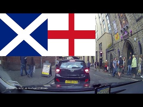 Driving in Scotland & England - From Edinburgh to Cambridge 6 hours