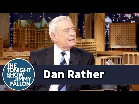 Jimmy Fallon Interviews Dan Rather About Facebook and Donald