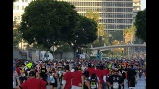 L.A Marathon 2017 Running Backward.