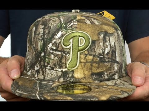 Phillies  MLB TEAM-BASIC  Realtree Camo Fitted Hat by New Era - YouTube ac7adf2c503