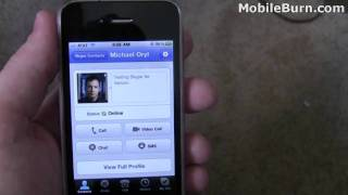 Skype for iPhone with video chat