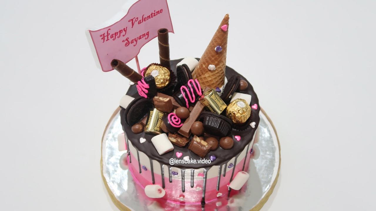 Birthday Cake Chocolate or Valentine How to Make Cake Dripping