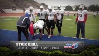 Defensive Line Drill: Stick Drill: Gary Salgado