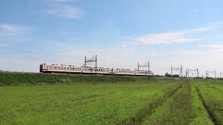 東武6050系6050型6152F 区間急行東武日光行 栗橋~新古河通過【4K】