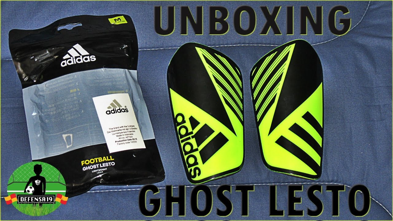 Unboxing espinilleras canilleras Adidas Ghost  db0c69e35c670