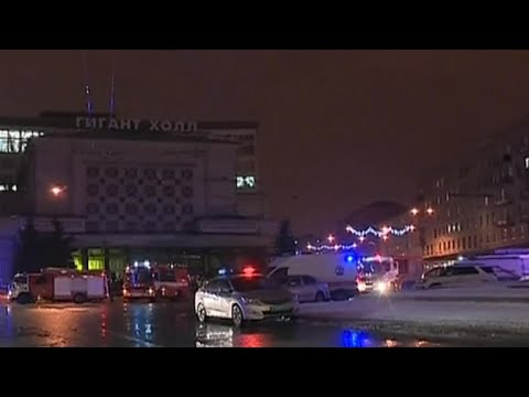 Supermarket explosion in St. Petersburg, Russia