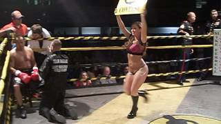 SEXY ring girl Sara dances!!!! (2014 Toughman Boxing, Logan WV)