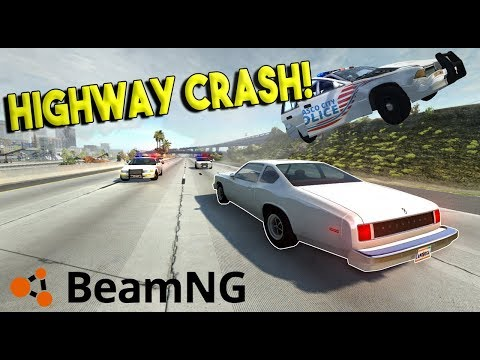 HIGHWAY POLICE CHASES & MASSIVE CRASHES!