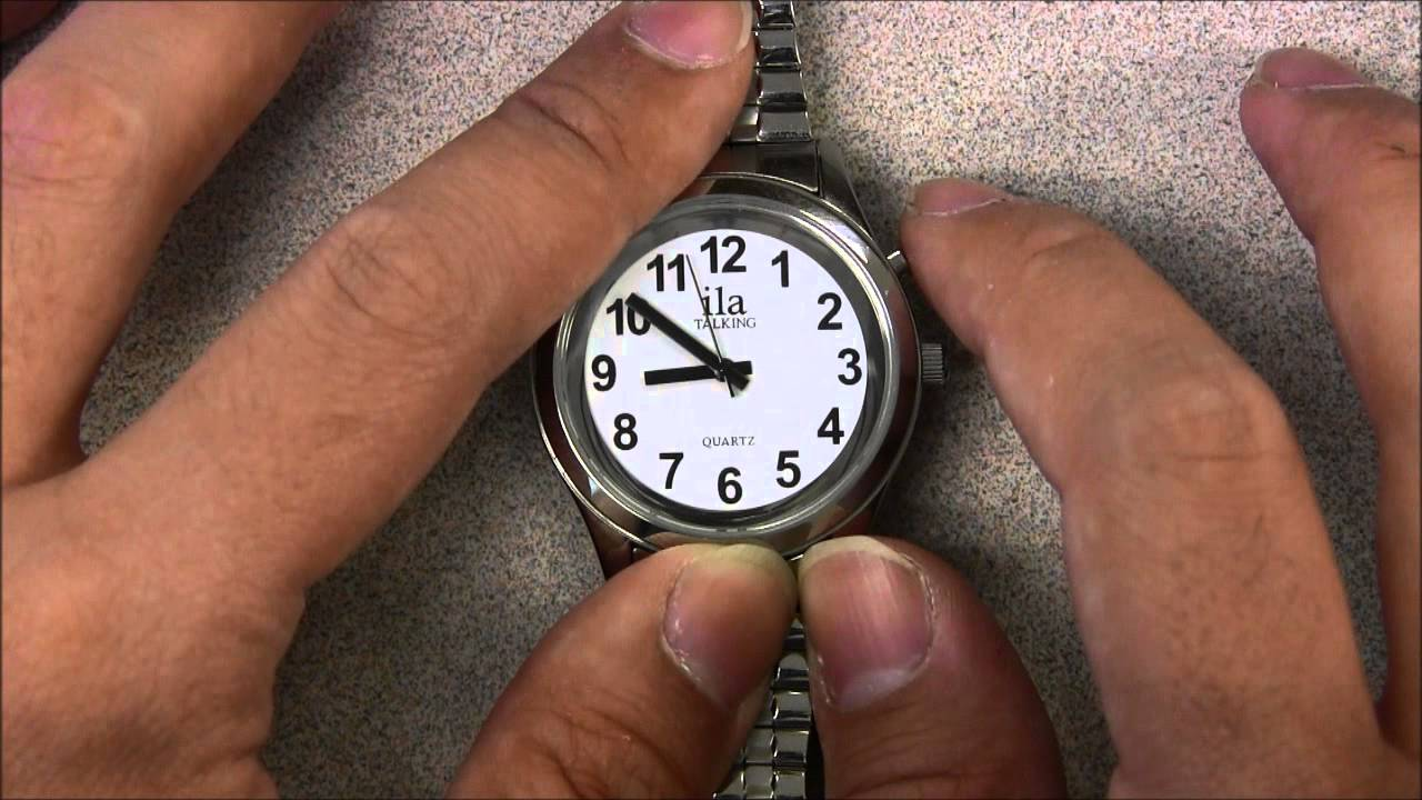 Talking atomic watch setting time & time zone youtube.