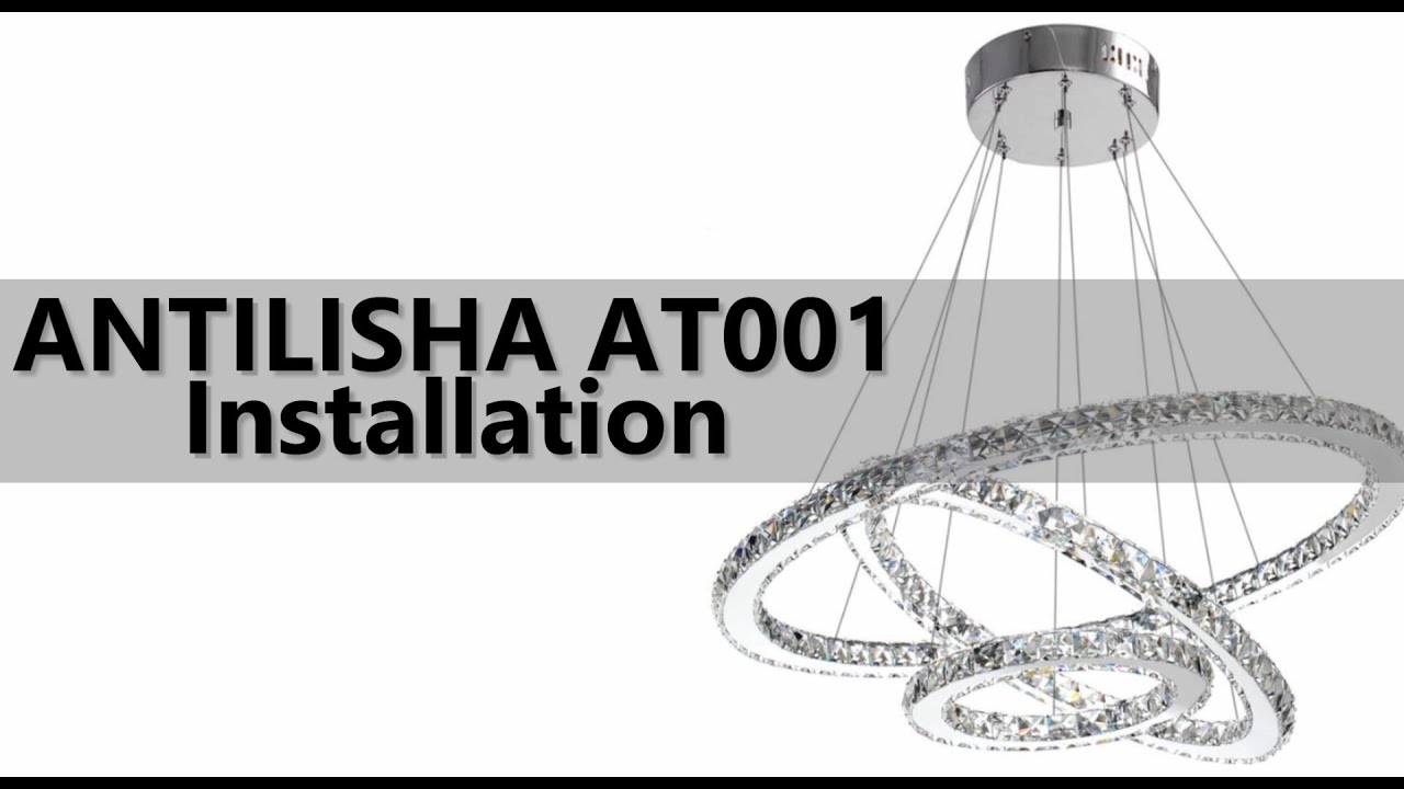 Modern Ring Crystal Chandelier, How To Install A Crystal Chandelier