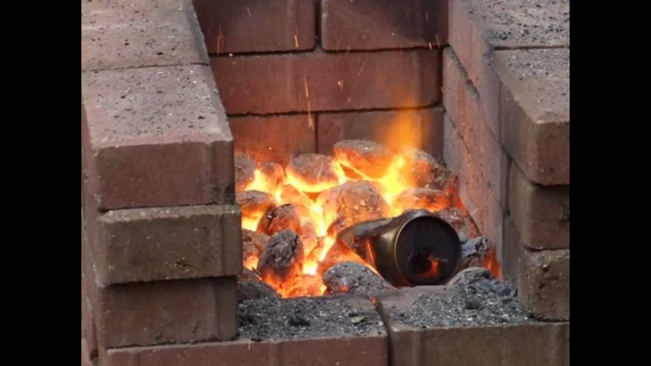 homemade blacksmiths forge youtube