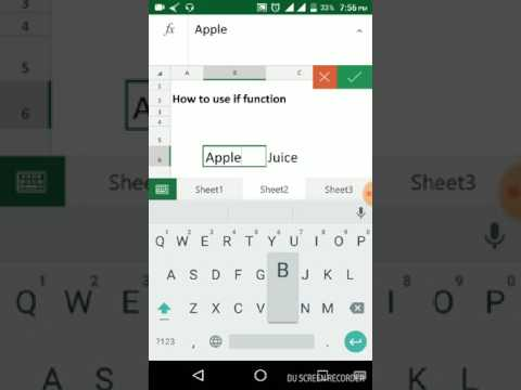 How To Use IF Formula In Mobile Excel