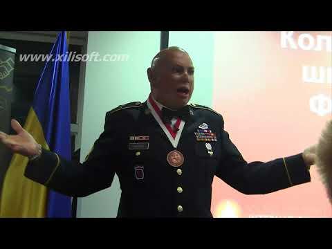 Staff Sgt. Shilo Harris, meeting with veterans in America House, Kiev, Ukraine 06.10.2017