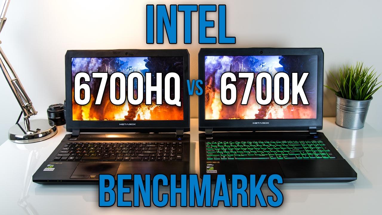 6700hq Vs 6700k Laptop Vs Desktop Cpu Benchmarks Youtube