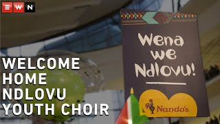 Scores of people gathered at the OR Tambo International Airport to welcome the Ndlovu Youth Choir back home.The group, from Moutse in Limpopo, returned on Friday after an impressive run on America's Got Talent.They reached the finals this week but were pipped to the $1 million prize by California native Kodi Lee.
