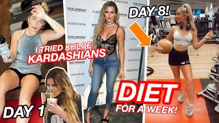 I tried Khloe Kardashians Diet & Workout for a week...and this is what happened!!!