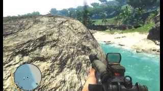 Игра Far Cry 3 - Меня укусила акула   бой на берегу моря