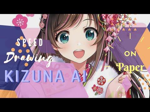 speed-drawing-kizuna-ai- -ana's-pad