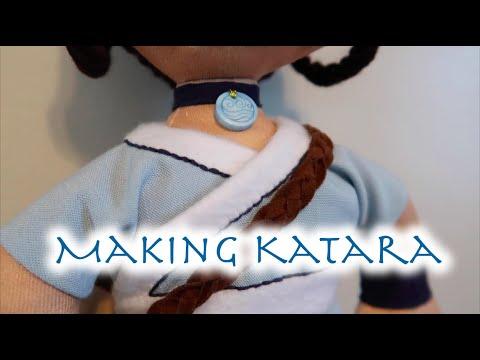 Making Katara Pt. 2 | Avatar Plush Dolls | Clothes & Hair