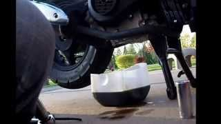 How to change your oil on a Chinese Moped