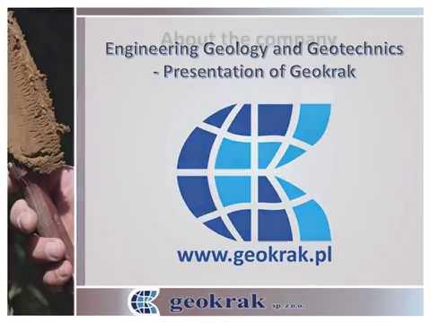Engineering Geology and Geotechnics -Presentation of Geokrak