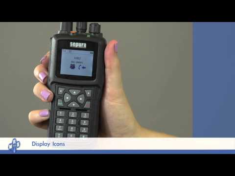 Sepura SBP8000 Portable Radio - Display Icons Training Video