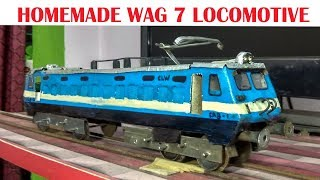How to make a electric train engine at home | homemade model wag 7