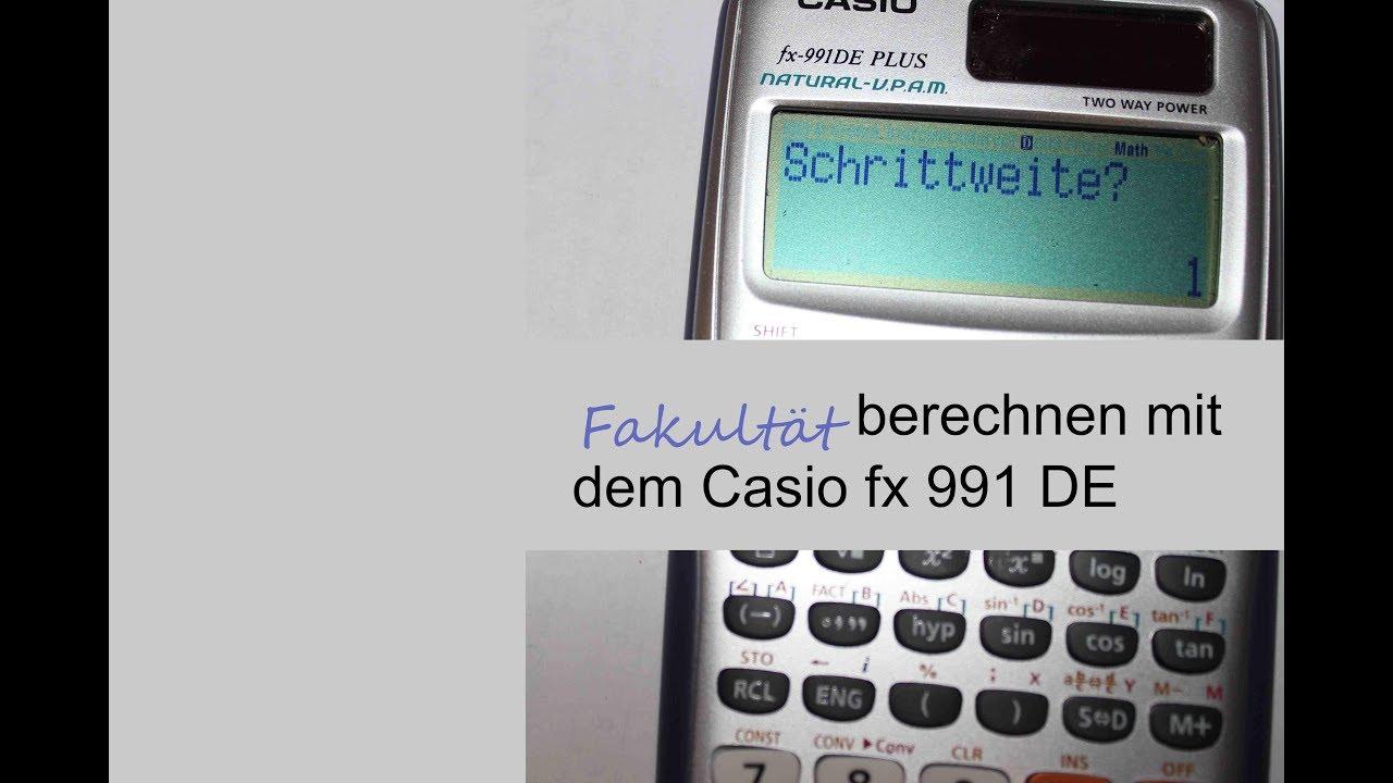 fakult t berechnen mit dem casio 990 fx taschenrechner. Black Bedroom Furniture Sets. Home Design Ideas