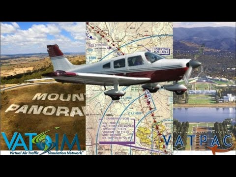 VFR on Vatsim, VirtualVH-HTM A2A Piper Cherokee from Orbx YBTH to YSCB Canberra