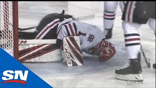 Niagara IceDogs Goalie Tucker Tynan Suffers Gruesome Injury