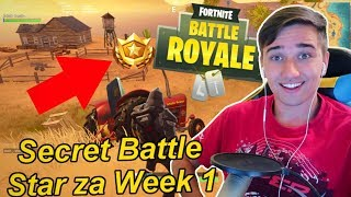 Secret Battle Star ve Fortnite za Week 1| Fortnite Battle Royale | Jakub Destro