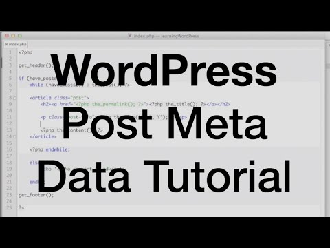 WordPress Post Meta Data Tutorial