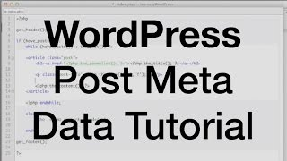 WordPress Post Meta Data Tutorial