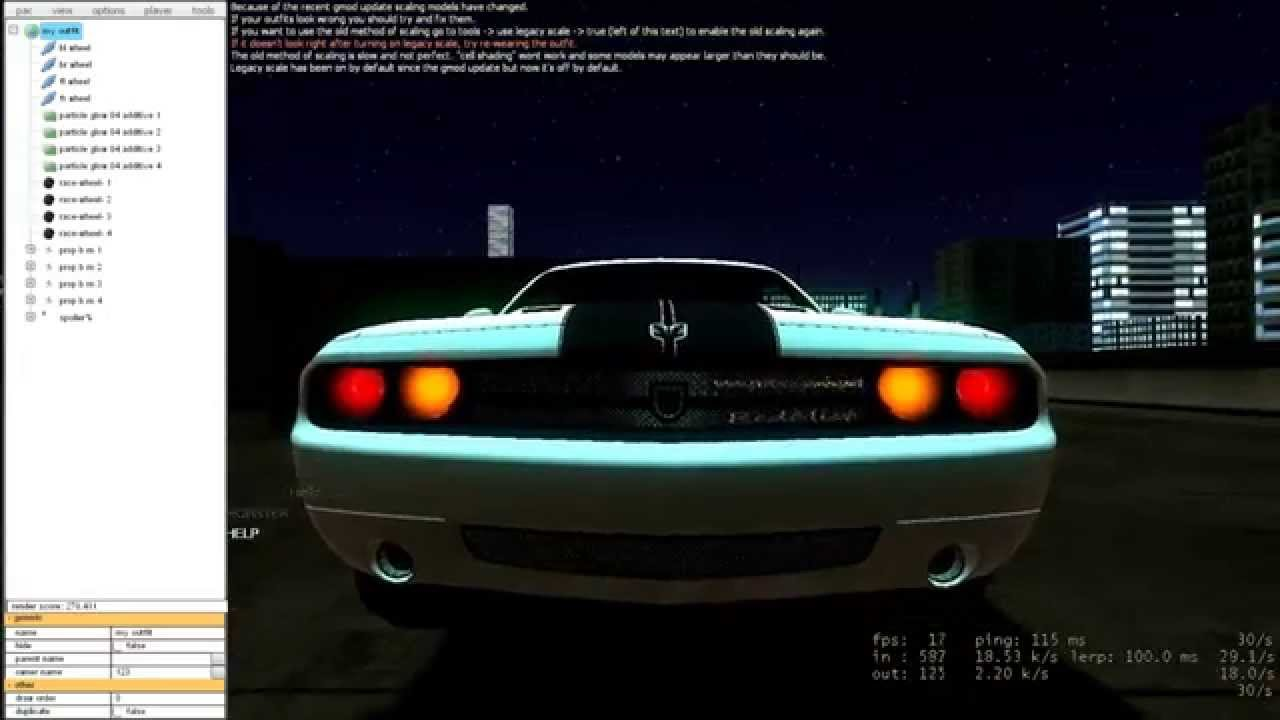 Garrys Mod: How to do PAC on cars - Part 3 - How to add custom lights to  your car