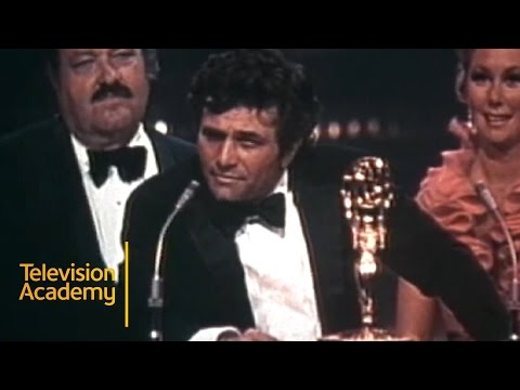 Peter Falk's Hilarious Acceptance Speech for COLUMBO   Emmys Archive (1972)