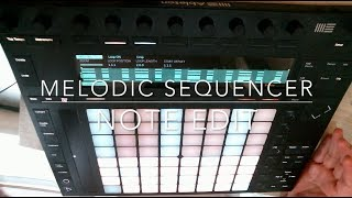 One Push One Tip Melodic Sequencer Edit Note