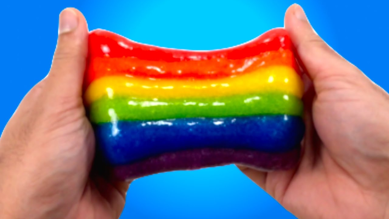 Diy rainbow slime how to make slime with baking sodaglue and diy rainbow slime how to make slime with baking sodaglue and detergent youtube ccuart Choice Image