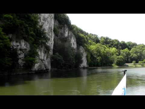 Danube Gorge near Weltenburg. From Kelheim to Weltenburg.
