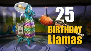 It's just TOP LOOT! Opening 25 birthday llamas in Fortnite!