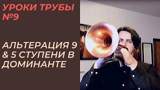 Уроки трубы №9.Джазовая импровизация. Альтерация 9 и 5 ступени в доминанте.